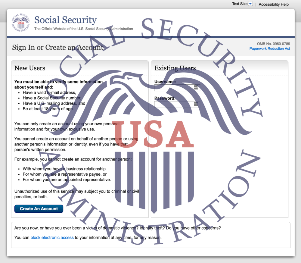 Social Security Administration (SSA) Website