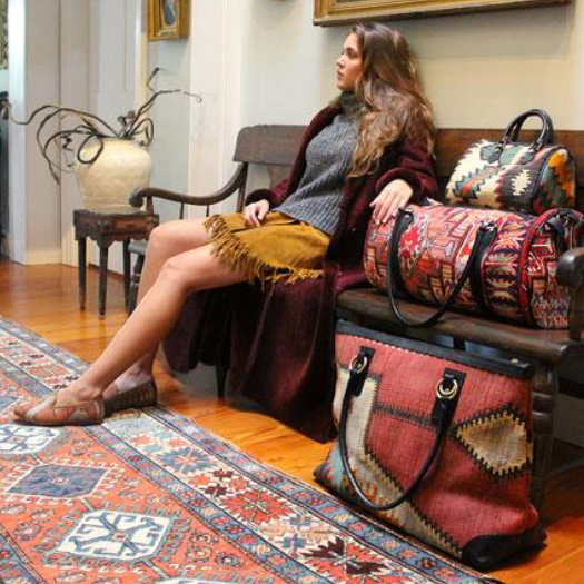 Artemis Design Co. - artemisdesignco.comSophisticated woven-wear that is sure to unwrap a smile. These are the makers of the Original One-of-a-Kind Kilim Carpet shoe.