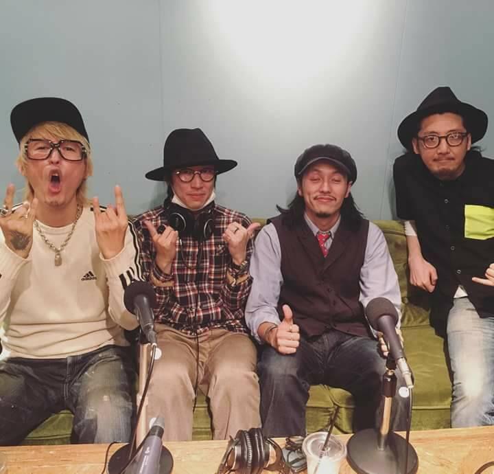 左からMCノーチンさん、スタイリスト菅井諒さん、DAISUKE、りゅうすけ教頭