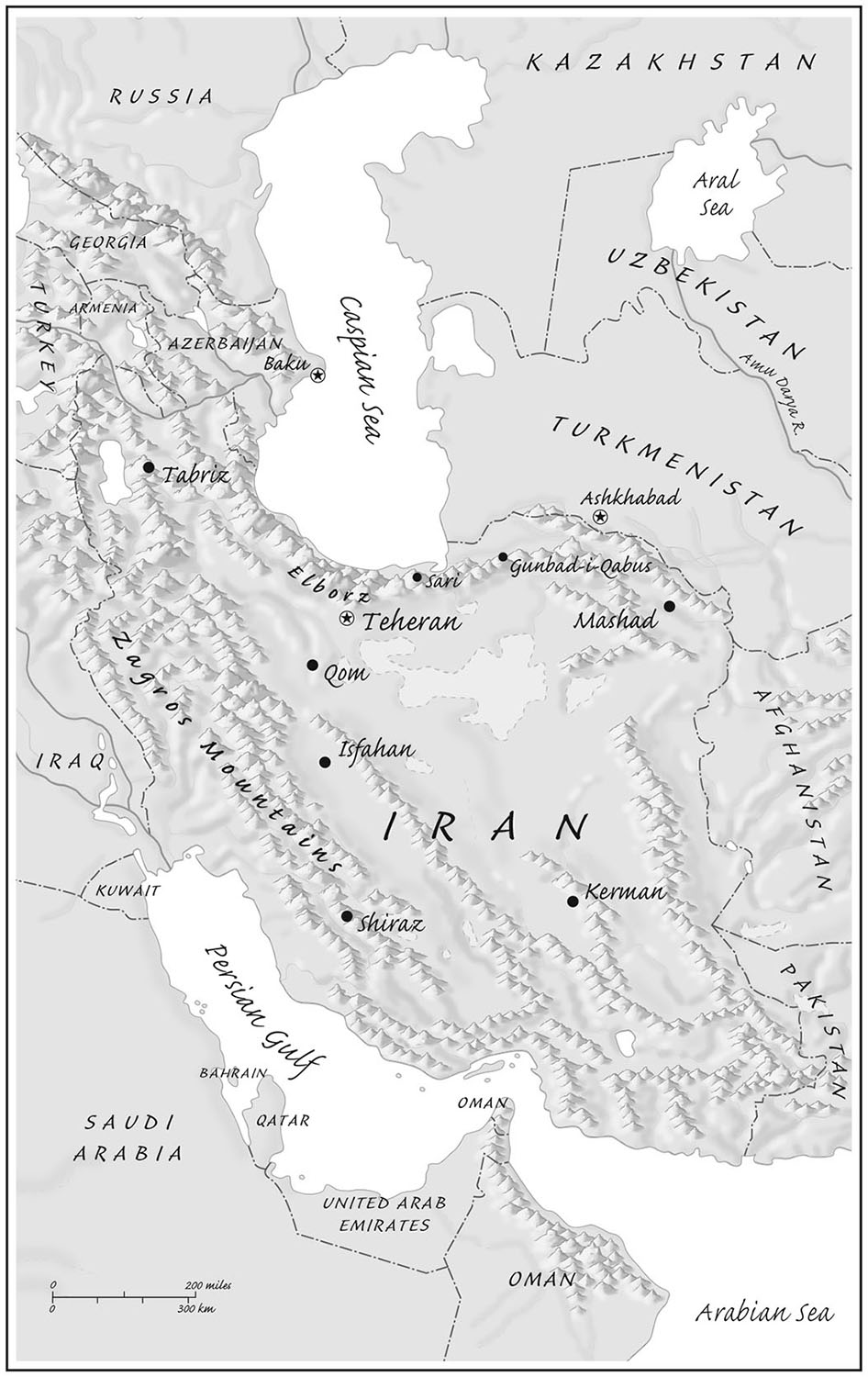 The Iranian Plateau, from   The Ends of the Earth: A Journey at the Dawn of the 21st Century,  by Robert D. Kaplan  (Random House, 1996). Map copyright © David Lindroth Inc.  A prescient view of regions that have become more volatile since the book's publication.