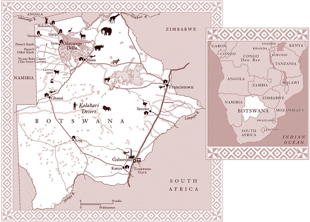 For    Mortals,  by Norman Rush   (Knopf 2003). Originally published in grayscale. Map copyright © Norman Rush.