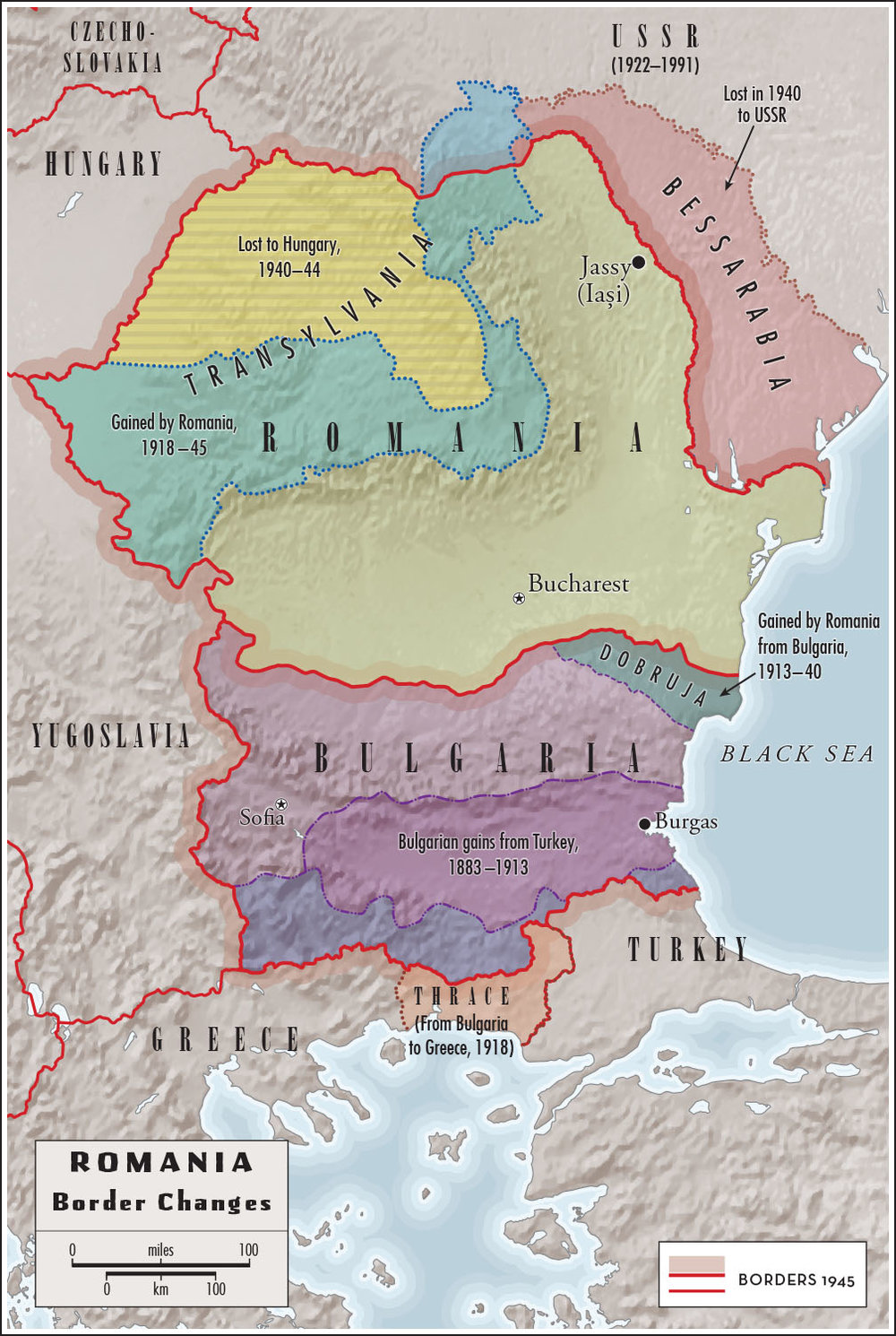 For    In Europe's Shadow: Two Cold Wars and a Thirty-Year Journey Through Romania and Beyond,  by Robert D. Kaplan   (Random House, 2016).  Map copyright © David Lindroth Inc.