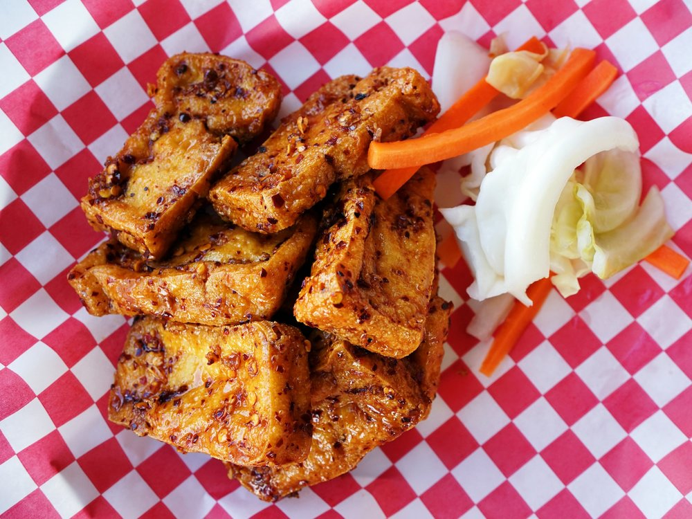 "Our vegan Ike's Vietnamese Tofu ""Wings"""