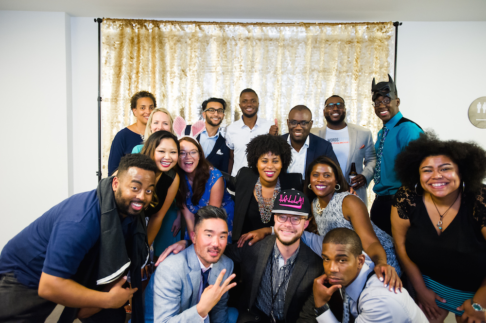 2017 Showcase: Fellows and Team together (I'm in the bunny ears). Shout-out to our partners at  LiveImage Photobooth