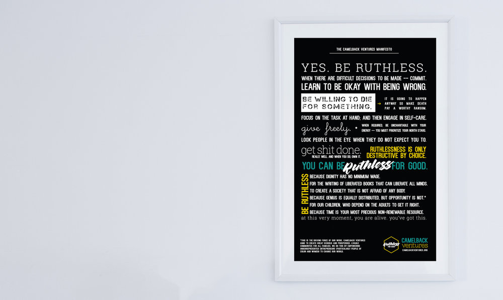 Ruthless for Good - OUR MANIFESTO