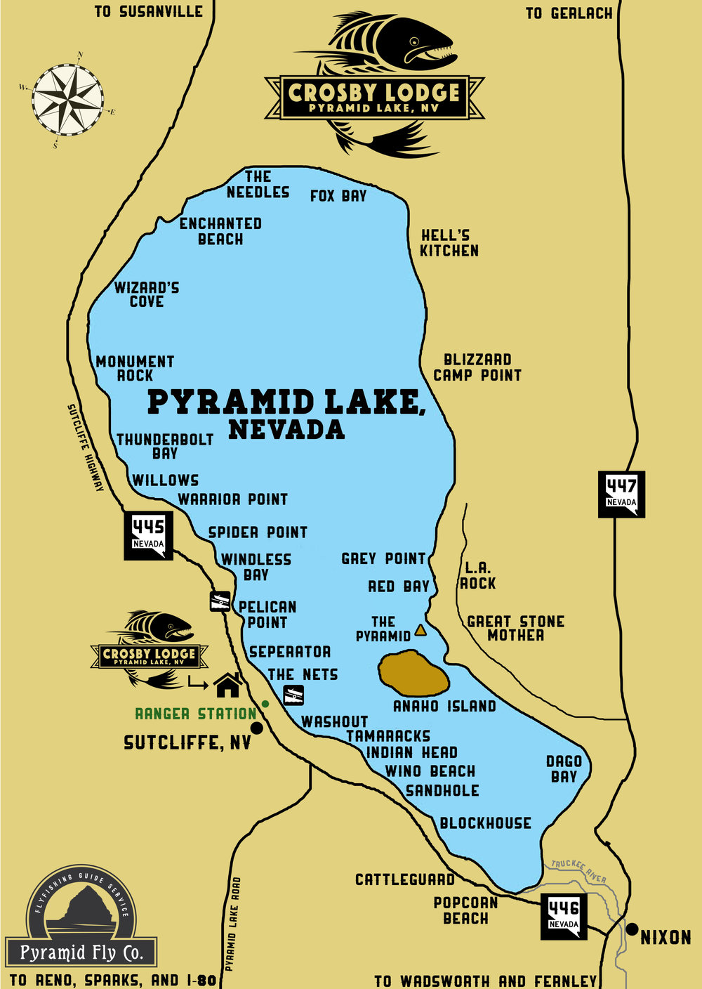 About pyramid lake crosby lodge for Pyramid lake ca fishing report