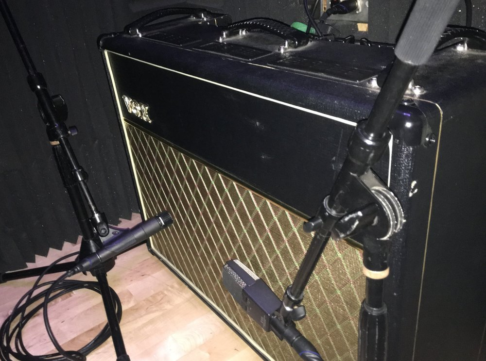 Vox AC30cc2 miked with Shure sm57 & AKG c414XLS