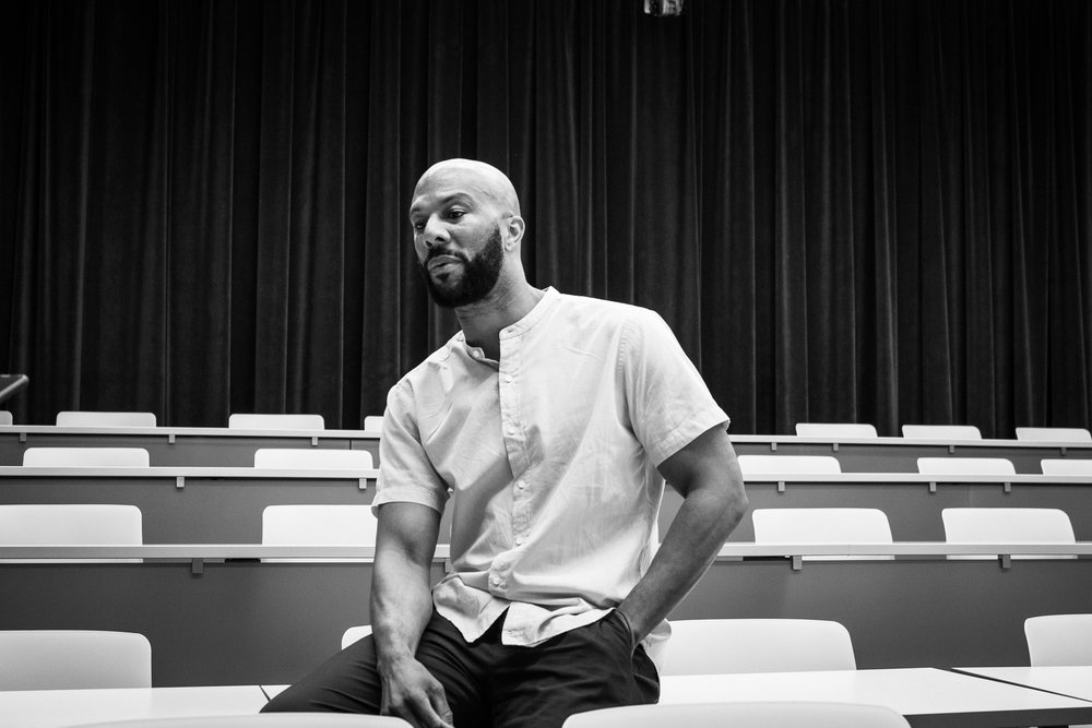 Common hosted a media session before speaking at Hancher, inviting various student media organizations on campus. / Photo by Gabby Estlund