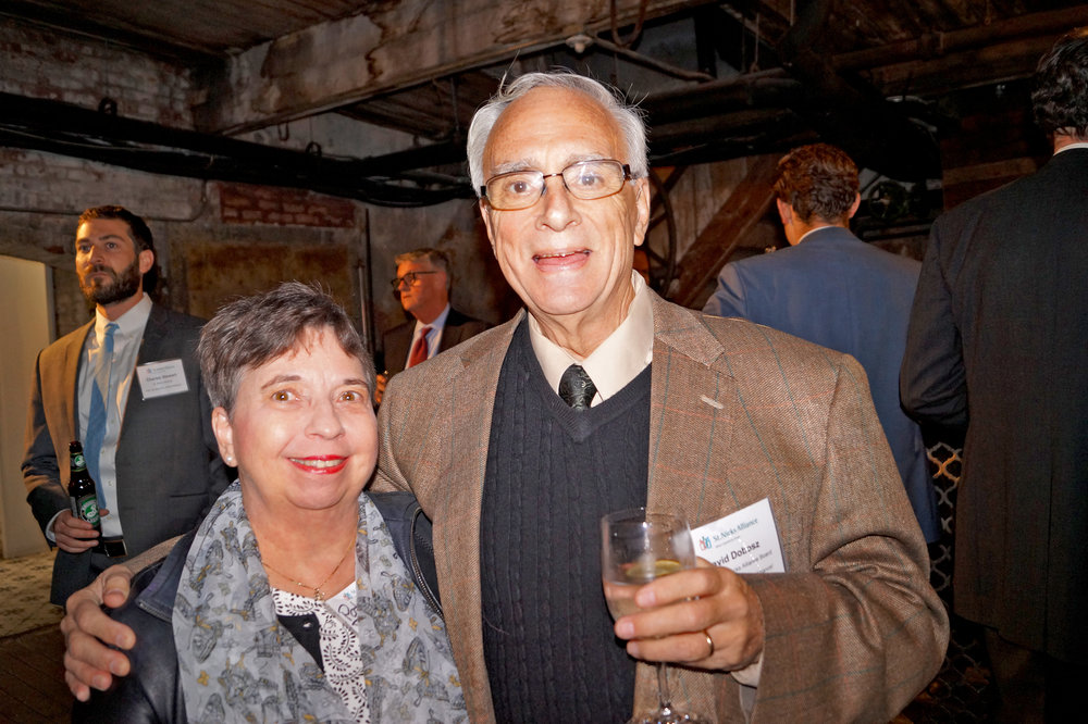 (l to r) Patricia Dobosz and David Dobosz (St. Nicks Alliance Board Member) are an inspiration in their support of St. Nicks Alliance and in building community
