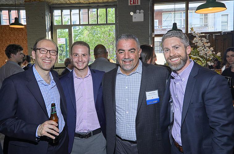 Evergreen Board Member, Sandy Weiner (Joyva Corp.) with Joseph Terzi (TerraCRG), Joseph Robles (St. Nicks Alliance, Board Chair), and Dan Marks (TerraCRG)  Photo Credit: Anastassios Mentis