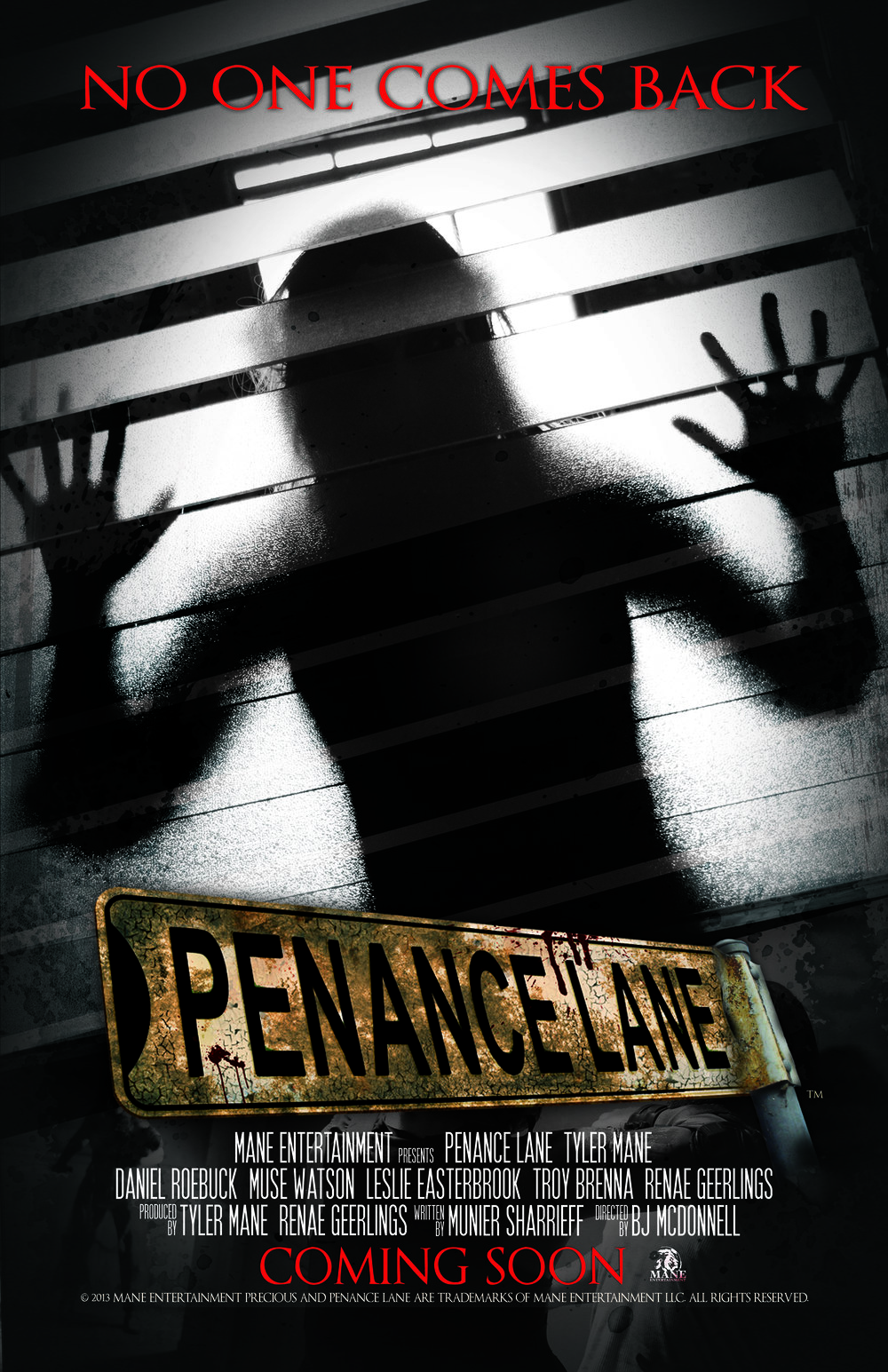 Movie Poster Concepts - Penance Lane