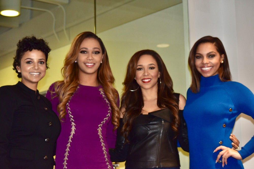L to R: LeShonda Martin with WAGS Atlanta cast members Ariel Anderson, Kierra Douglas, and Hope Wiseman