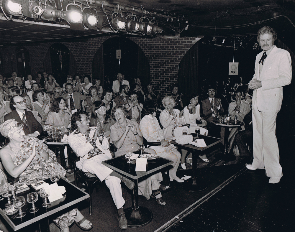 Dave celebrate his 25th anniversary in show business with a performance at Old Angelo's in Toronto - August 1976