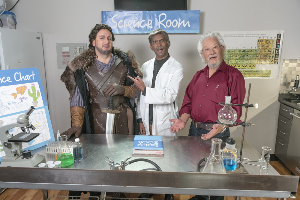 "Jon Snow (Craig Lauzon), a scientist (Darryl Hinds), and special guest    David Suzuki    learn that thanks to climate change, ""winter is coming."""