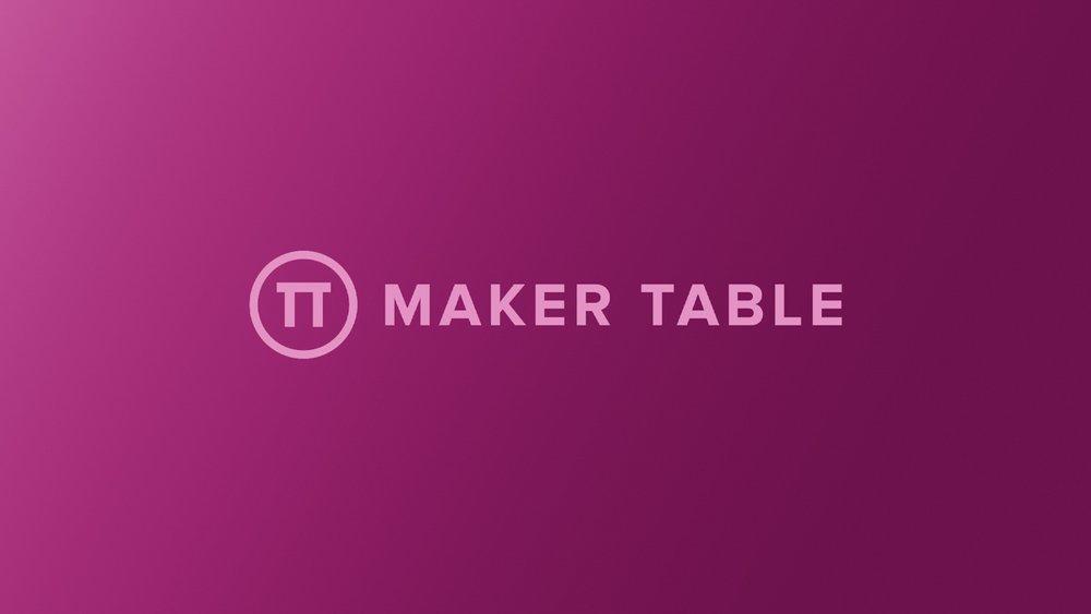 Maker Table | branding