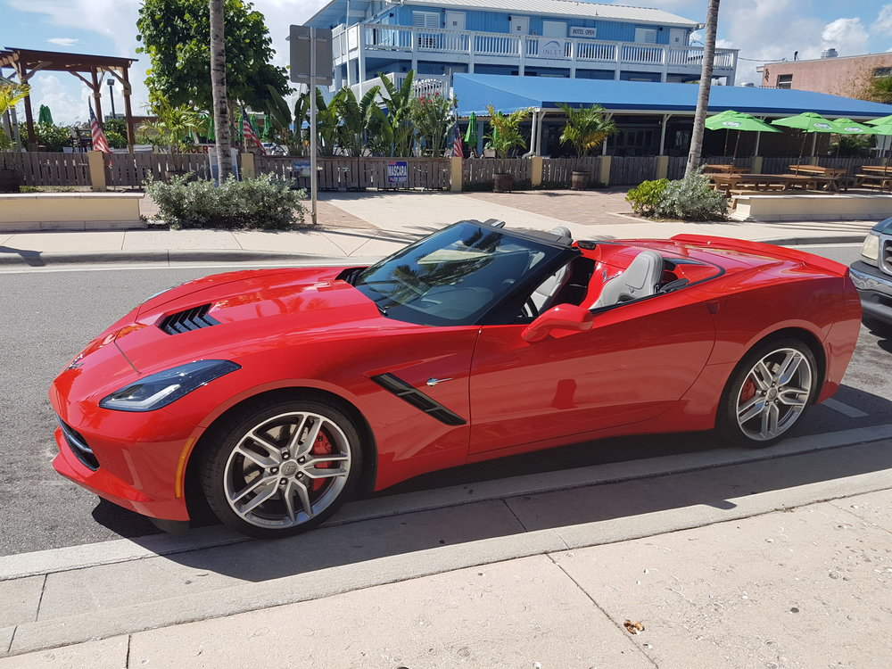 Corvette 2015 SHOWROOM CONDITION,LIKE NEW. Come and enjoy an unforgetable day on the beautiful Florida highway with a luxury muscle convertible car!  $195 a day or (3 days minimum) $1250 a week $4,000 for the month You must have a clean driving record and a major credit card.   2015, showroom condition, 8 cylinder