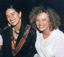 Brava Founder Ellen Gavin (R) with Lila Downs