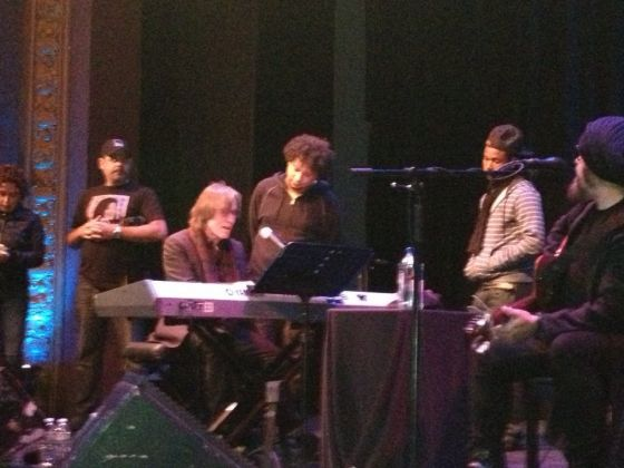 Jackson Browne onstage in a surpise appearance at Brava, 10/18/13. P  hoto: Anastacia Powers Cuellar.