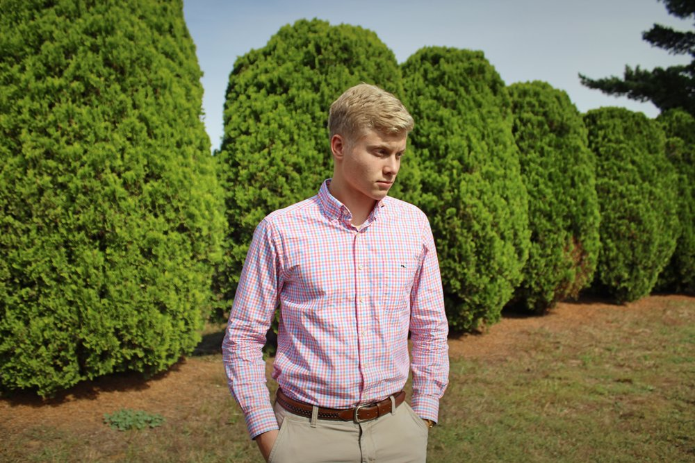 "Kasey   ""Kasey is a very preppy and dapper dresser. His sense of fashion is heavily influenced by the styles of his rowing team, which he meets with regularly. His mother is also an alumni of the University of Pennsylvania and Columbia, both Ivy League schools, whose fashion trends are also reflected upon in Kasey."""