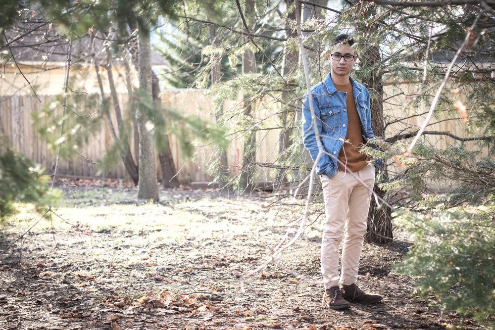 Men's Sweater and Denim Jacket Look 4