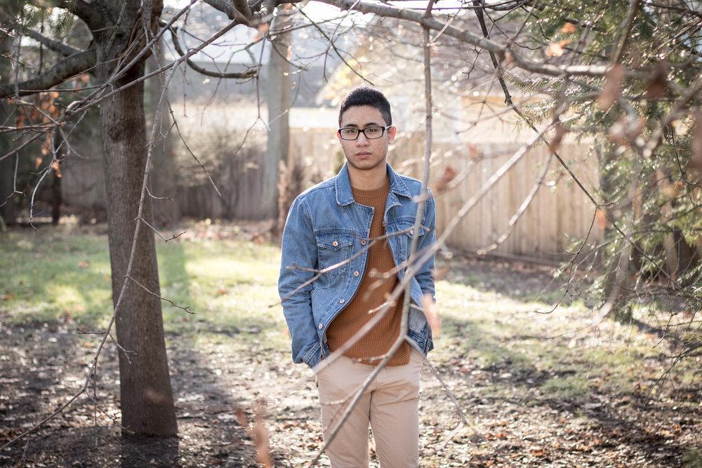 Men's Sweater and Denim Jacket Look 6