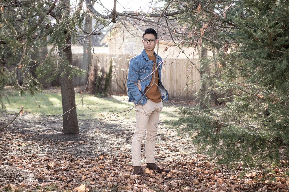 Men's Sweater and Denim Jacket Look 7