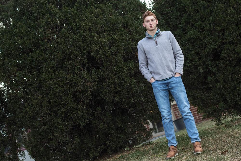 Men's Early Winter Gray Half Zip Sweater Look 2