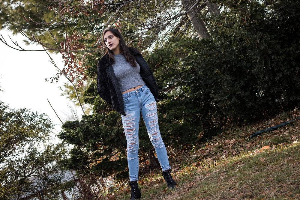 Rocking a Women's Reversible Fleece Jacket 2