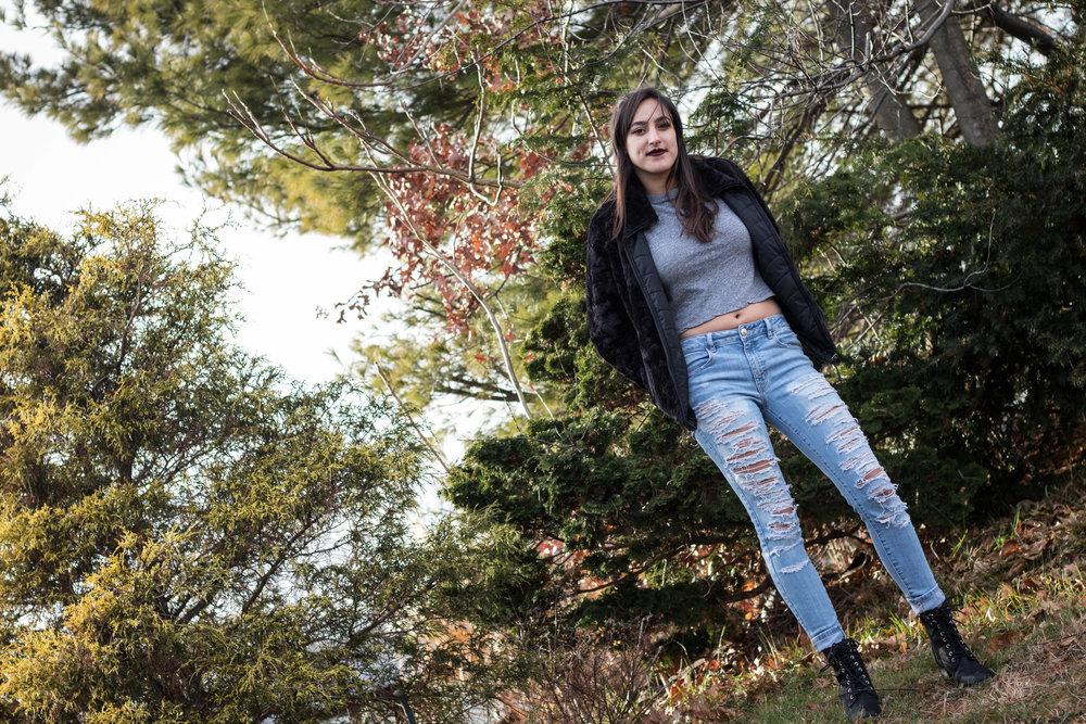 Rocking a Women's Reversible Fleece Jacket 8