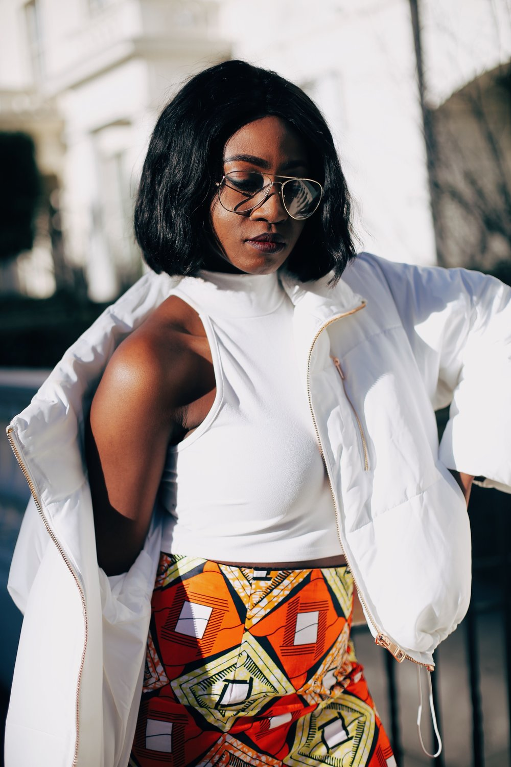 Jennifer Amani: An African Print Skirt in Lovely London 2