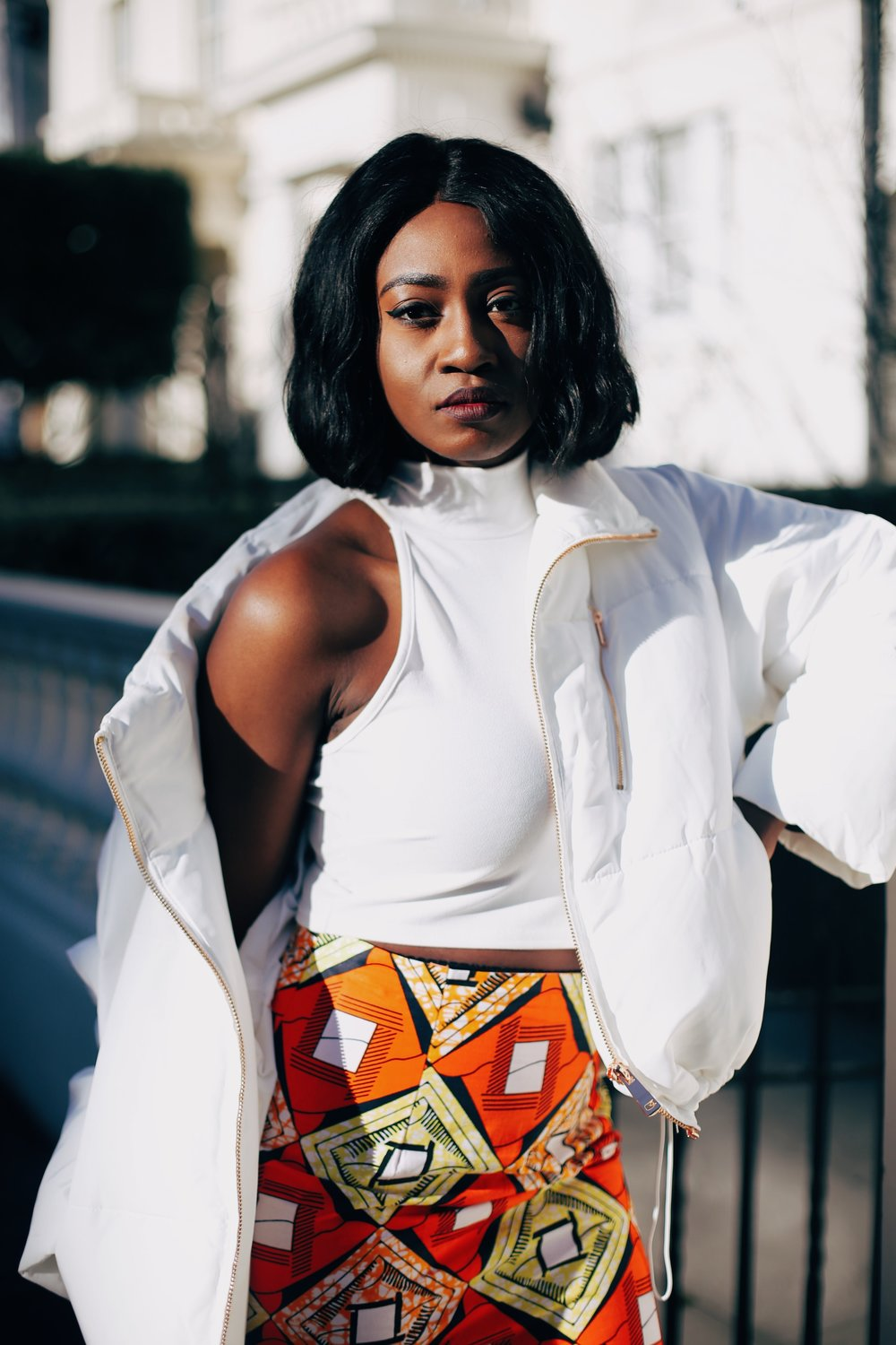 Jennifer Amani: An African Print Skirt in Lovely London 7
