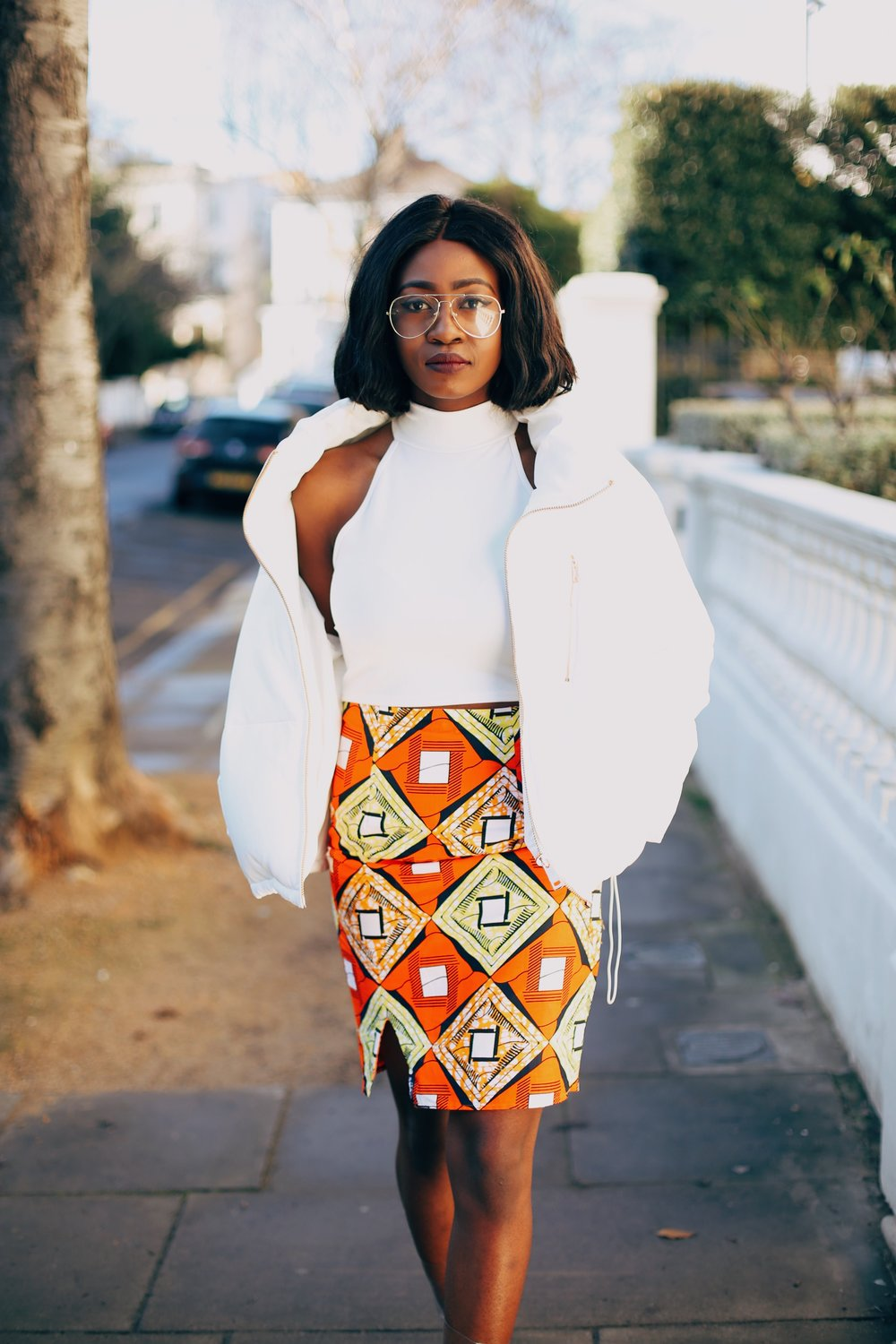 Jennifer Amani: An African Print Skirt in Lovely London 6