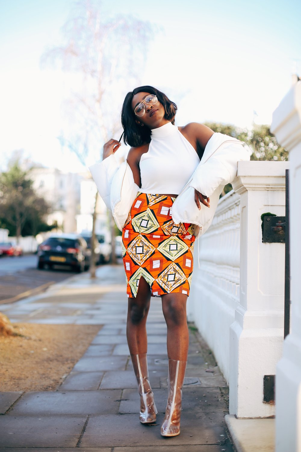 Jennifer Amani: An African Print Skirt in Lovely London 4