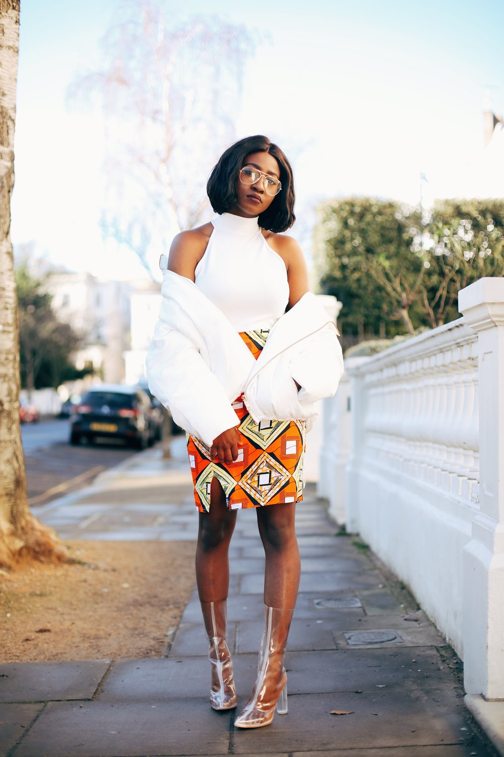 Jennifer Amani: An African Print Skirt in Lovely London