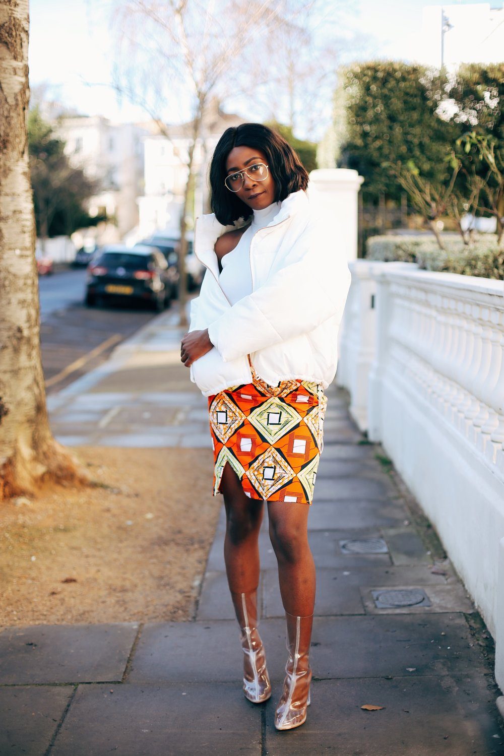 Jennifer Amani: An African Print Skirt in Lovely London 3