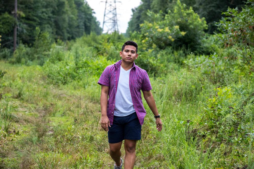 Abner Gomez's Men's Navy Blue Chino Shorts