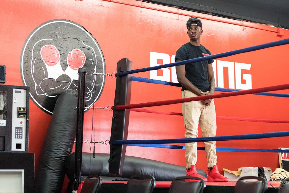 Young Boxer Isaiah at Cross Cut Gym