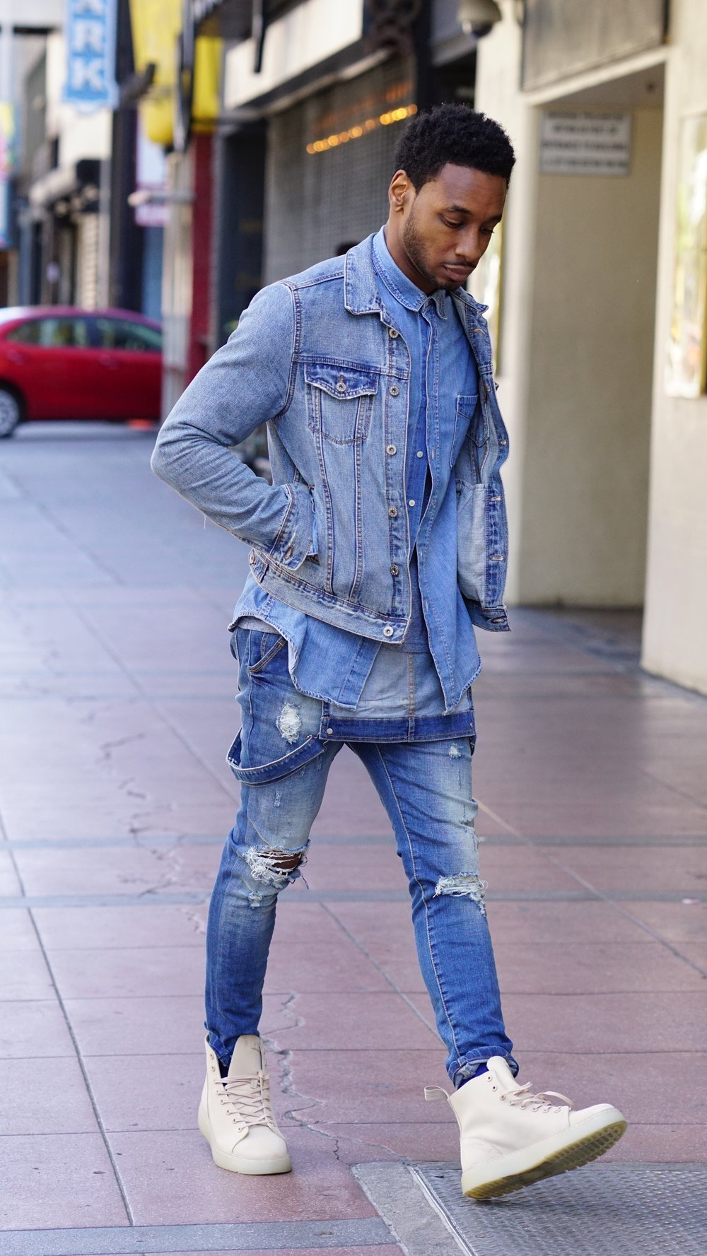 Rocking a Denim Out for some LA Street Style with Norris Danta Ford