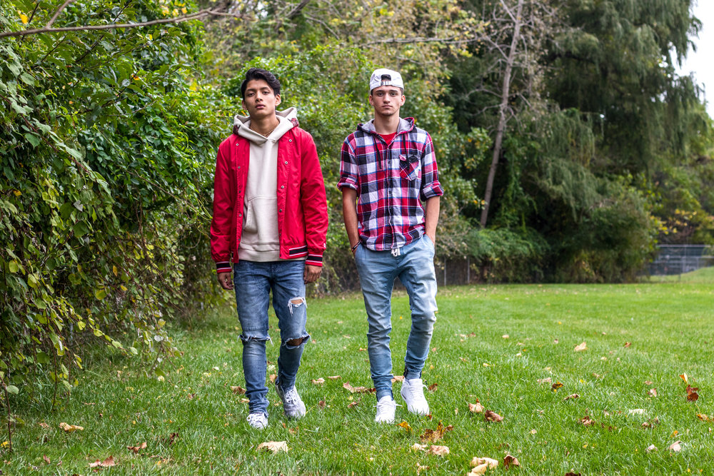 Dane Papalia and Charlie Serrano, brothers on and off the track, fall fashion inspiration