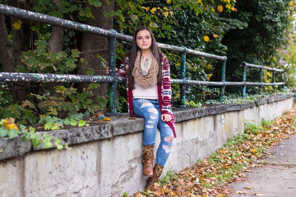 Alina Ogurek's fall knits outfit
