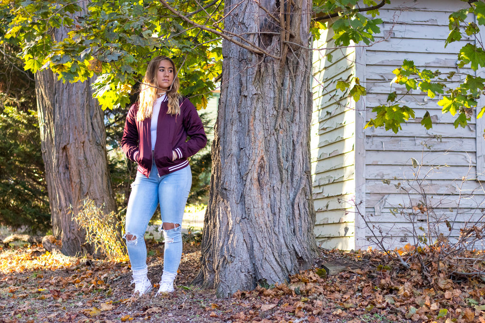 Fall Style Street with Jeans and a Jacket