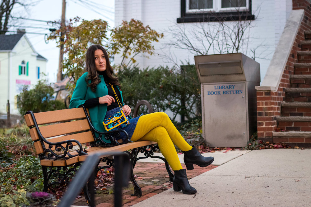 Olivia Awalt's Colorful Winter Fashion