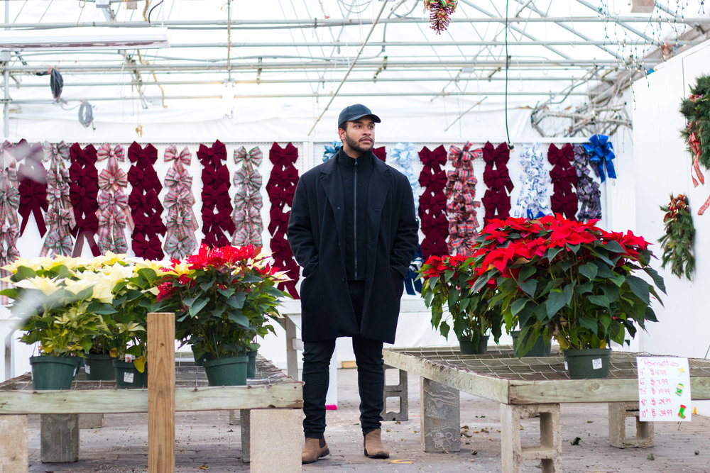 December Fashion with black clothing