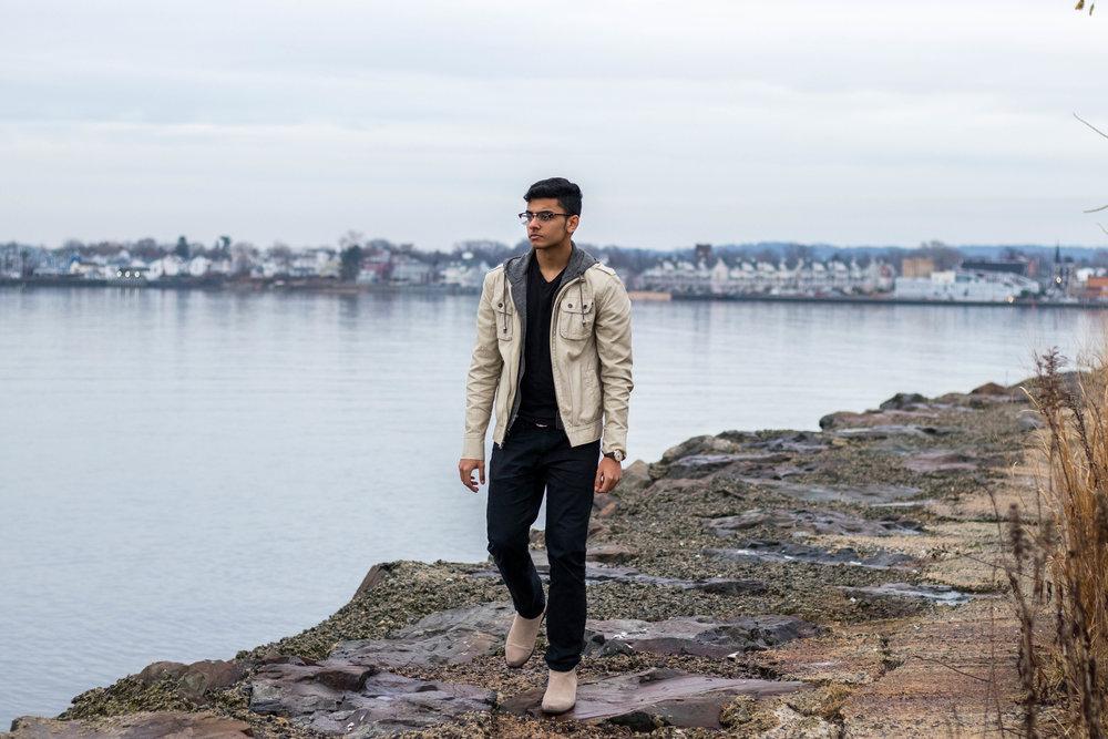 Hanan Babar wearing a light hooded jacket for Paulo Paradox Fashion Blog