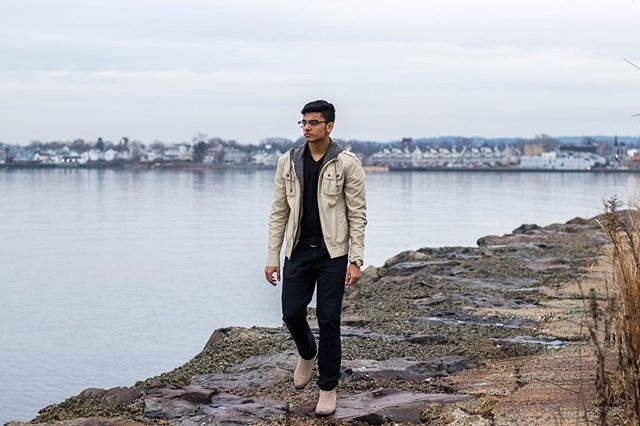 """Moving to Countries, Moving to Towns + Suave Tan and Beige Outfit: Moving to a new place is daunting and although usually scary, can mark a new beginning as it was for today's January fashion featured individual, Hanan. He moved right in the middle of high school from the town of Edison to the much smaller area of Matawan, New Jersey. It was tough, really tough, and for the most part of his sophomore year in Matawan, Hanan remained quite, but when junior year and wrestling rolled around, he began to come out of his shell. Even though coming to this new town presented a challenge of its own, this was not the first time he had moved. At least the second time around, it wasn't from another country."" Continue reading at pauloparadox.com (Link in bio). . . . . . . . . . . . .#cliffside #cliff #waterfront #chelseaboots #mensfashionblog #mensfashions #mensstyleblog #mensstreetwear #mensshoes #mensstyleguide #portraitphotography #canonphotography #newjersey #winterstyle #winterfashion #pauloparadoxworthy"