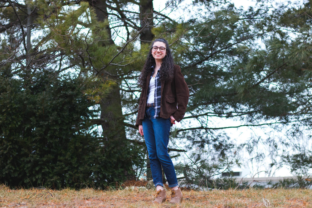 Jess DeLucia and her casual winter style inspiration