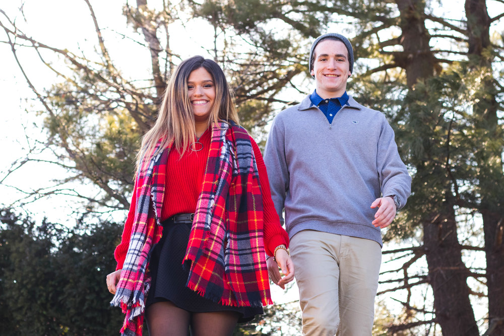 Red and Blue Outfits for Couples