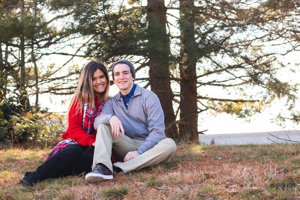 Bella Awalt and Matt Weisburg and their Valentine's Day Fashion