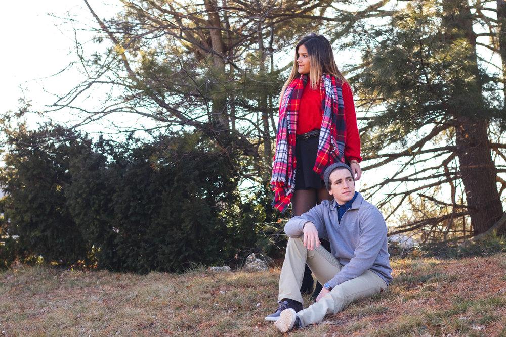 Bella Awalt and Matt Weisburg sharing their winter fashion inspiration