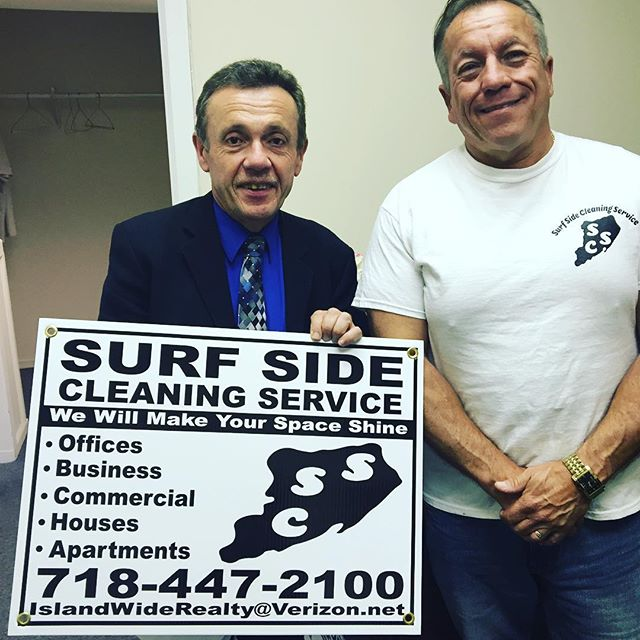 Anthony Bernardez of Surf Side Cleaning with Joe Muller from the Small Business Development Center. Staten Island. Thank You SBDC